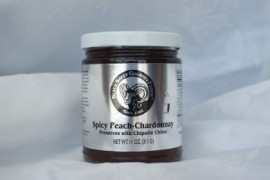 Spicy Peach-Chardonnay Preserves with Chipotle Chiles